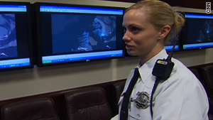 Mandy Curfiss is one of 10 Cincinnati police officers who have patrolled the streets with the AXON camera.