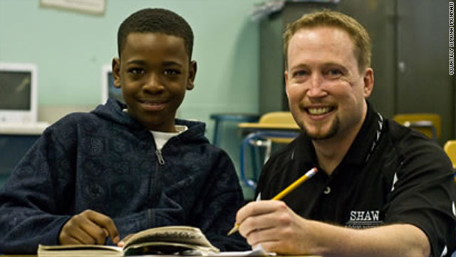 Many students saw slain middle school Principal Brian Betts as a fun-loving father figure.