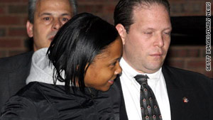 Natavia Lowery, shown after her arrest, worked for victim Linda Stein for four months.