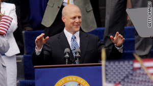 Mitch Landrieu was sworn in as mayor of New Orleans, Louisiana, on Monday.