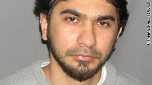 The name of bomb plot suspect Faisal Shahzad was found with a suspect arrested in last week's raids, ICE says.