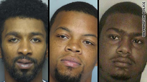From left: Marquis Lopez, Keenan Wallacea and David Flowers have been arrested in the case.