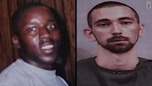 Anthony Hill's body was found early Wednesday. Gregory Collins, right, is charged with the death.