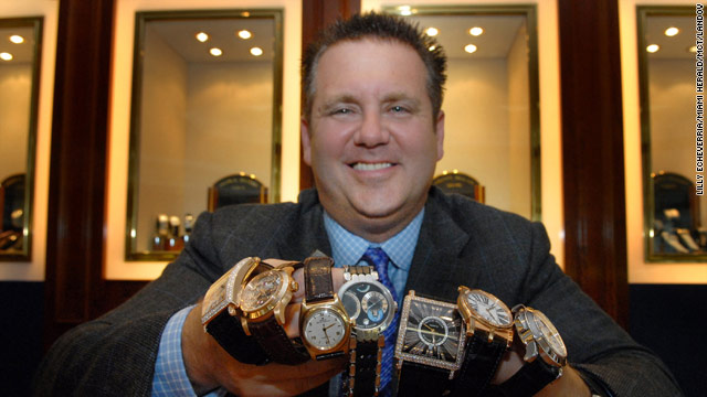 Scott Rothstein, with his watch collection  in 2007, is headed to federal prison.