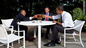 "President Obama held a ""beer summit"" with Harvard professor Henry Louis Gates Jr. and police Sgt. James Crowley."