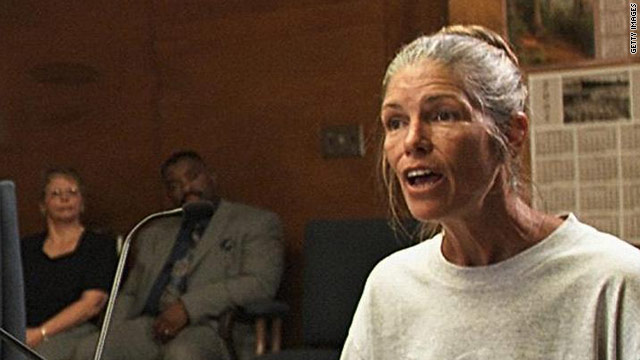 Leslie Van Houten, shown at a parole hearing in 2002, went  before California's parole board for the 19th time on Tuesday.