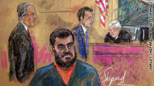 Confessed New York subway plotter Najibullah Zazi, foreground, had bosses in Pakistan, prosecutors say.