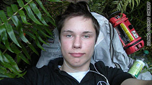 Colton Harris-Moore is shown in a self-portrait found in a stolen camera left in a stolen car.