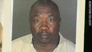 "Police displayed the current booking photo of Franklin, who police say is the ""Grim Sleeper"" serial killer."
