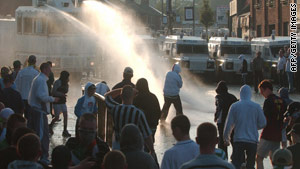 Previous celebrations have often been marred by violence, such as this one in in July 2005.