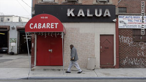 The men were shot after an altercation with plainclothes detectives outside this Queens nightclub.