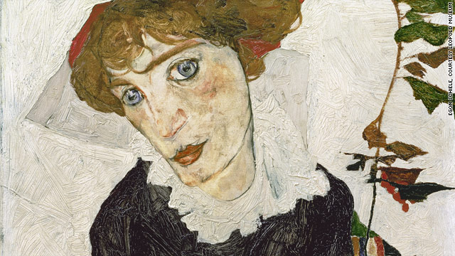 """Portrait of Wally Neuzil, 1912"" painted by Egon Schiele, oil on wood, will return to the Leopold Museum in Vienna on August 18."