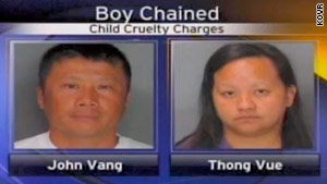 John Vang and Thong Vue are facing charges of false imprisonment and child cruelty.