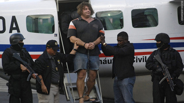 William Dathan Holbert, aka William Adolfo Cortez, is returned to Panama last week after being arrested in Nicaragua.