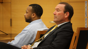 Keith Phoenix, left, shown at court in May, was convicted of a hate crime. Another attacker was convicted of manslaughter.