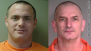 Authorities say they believe Tracy Province, left, and John Charles McCluskey are hiding apart from each other.
