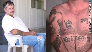 John McCluskey has tattoos on his arm, chest and stomach, as seen in these photos.