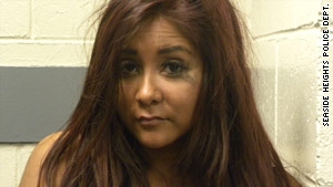 """Nicole """"Snooki"""" Polizzi was arrested on disorderly conduct charges in July."""
