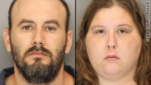 James and Anne Cardona of Marietta, Georgia, were charged with second-degree child cruelty, police said.