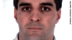 A photo supplied by the Spanish Interior Ministry of ETA suspect Luis Maria Zengotitabengoa.