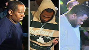 Three of the four suspects in the alleged synagogue bomb plot are shown after their arrests in 2009.