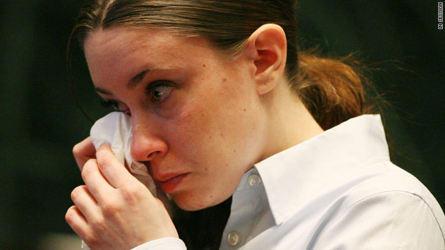 Casey Anthony, shown at an earlier hearing, did not attend Monday's status hearing in her murder trial.