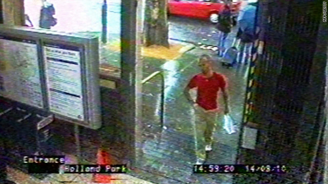 A police handout picture shows Gareth Williams filmed on CCTV entering a London underground station on 14 August, 2010.