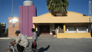 The V Bar in Ciudad Juarez was the scene of a mass shooting that left eight people dead early Friday.