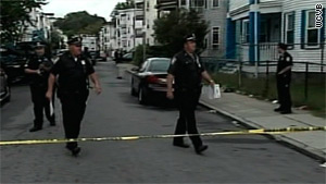 Police responded to the shooting Tuesday in the Mattapan neighborhood in Boston, Massachusetts.