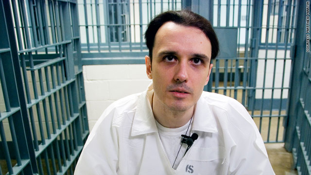"""Echols is medium height, about 5'9""""- 5'10"""" and much thinner than the way he appeared at his trial in 1993.  His face is extremely pale, almost ghostly, from lack of sunshine these last 16 years."""