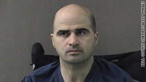 U.S. Army Maj. Nidal Hasan is suspected of killing 13 people in a November 2009 shooting spree at Fort Hood, Texas.