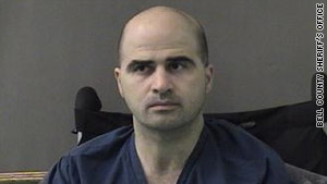 Maj. Nidal Hasan is accused of killing 13 people at Fort Hood, Texas, in November.