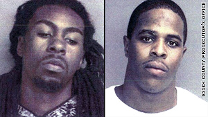 Marquise L. Foster, right, surrendered to authorities on Saturday; Alrashim N. Chambers remains at large.