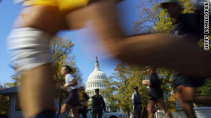 The Marine Corps Marathon, one of the world's largest, starts Sunday at the Pentagon.