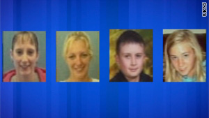 Tina Herrmann, Stephanie Sprang and siblings Kody and Sarah Maynard have been missing since mid-week.