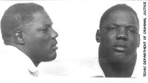 Ronald Chambers, shown in 1975, the same year a Texas jury found him guilty of capital murder.