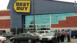 The suspect attempted to conceal property and was confronted by Best Buy employees, authorities said.