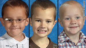 An amber alert has been issued for Alexander, 7, Andrew, 9, and Tanner Skelton, 5.