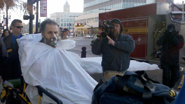 Brian David Mitchell, accused of kindapping Elizabeth Smart, is carted from the federal courthouse in Salt Lake City, Utah.
