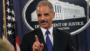 Attorney General Eric Holder said Monday that hundreds of people have been charged after a new fraud probe.