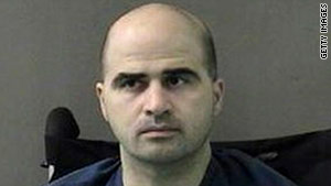 Maj. Nidal Hasan is accused in the November 5, 2009, shootings in which 13 people were killed.