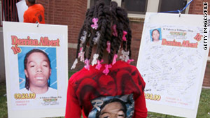 Derrion Albert was an innocent bystander who ended up in the middle of a street fight, officials say.