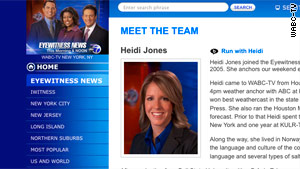 Meteorologist Heidi Jones, seen on WABC-TV's website, has been suspended from the station pending an internal probe.