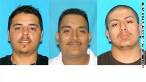 The missing men are Jesus Bejar Avila, 24, left, Yazmany Quezada Ortiz, 25, and Christian Alberto Rangel, 19.