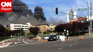 Two firefighters were injured in October's blaze at the Westfield Galleria in Roseville, California.