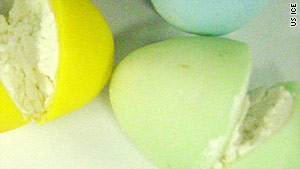 Much of the cocaine seized Thursday was hidden inside pastel-colored Easter egg candies.