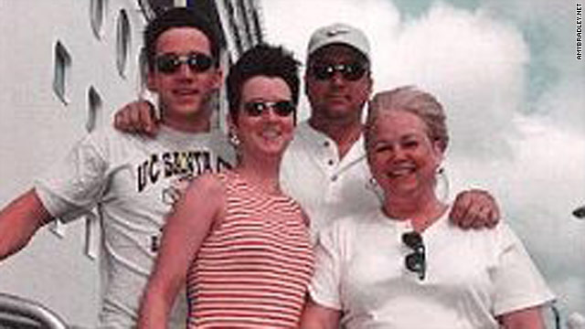 Amy Lynn Bradley, second from left, shown with her family on the cruise ship &quot;Rhapsody of the Seas,&quot; vanished as the boat docked in Curacao.