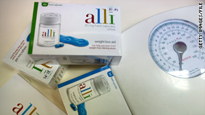 The diet drug Alli prevents a portion of the fat a person consumes from being absorbed.