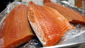Women who eat fish at least once a month can lower their risk of death from coronary heart disease by up to 34 percent