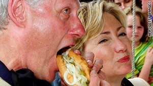 """While he eats a lot better than he used to,"" he still indulges, one friend tells CNN."